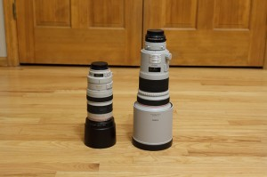 Barrel comparison of EF 300mm f/2.8 v.s EF 100-400mm f/4.5-5.6